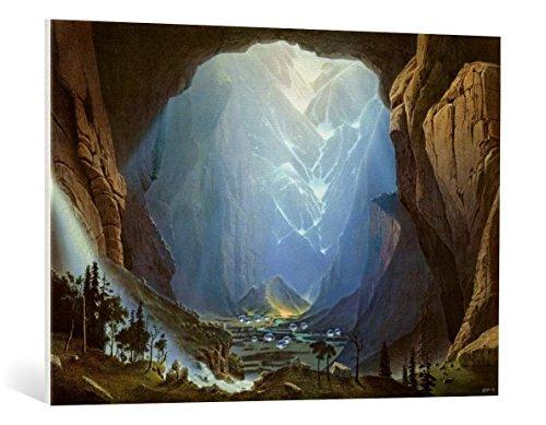 kunst für alle Leinwandbild: Hans-Werner SAHM Tau - hochwertiger Druck, Leinwand auf Keilrahmen, Bild fertig zum Aufhängen, 100x70 cm