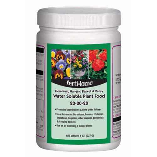 Voluntary Purchasing Group 10728 Fertilome Geranium Hanging Plant and Pansy Water Soluble Plant Food Fertilizer, 8-Ounce
