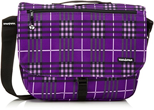YakPak Borsa Classic Messenger, Viola (Purple Classic Plaid), 12 x 36 x 31 cm