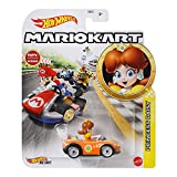Hot Wheels Mario Kart GBG25 Princess Daisy Wild Wing - Vehículo metálico 1/64