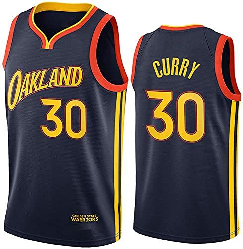WEIZI Stephen Curry Jersey, 2021 Temporada Golden State Warriors City Edition Camisetas de Baloncesto, Ropa Deportiva de Entrenamiento sin Mangas (Size:S/,Color:G1)