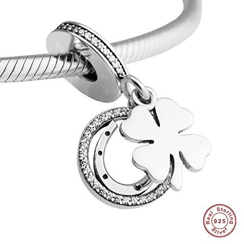 MOCCI 2017 Frühling DIY passt für Pandora Armbänder 925 Sterling Silber Good Lucky Day Clear CZ baumeln Charme Perle DIY Schmuck