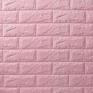 2 pieces set 70x77cm XPE Foam 3D Wall Stickers Safty Home Decor Wallpaper Sticker,pink