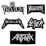 makstore 5 piezas Thrash Metal Patch Rock Band Patch Patch para planchar para fans de la música