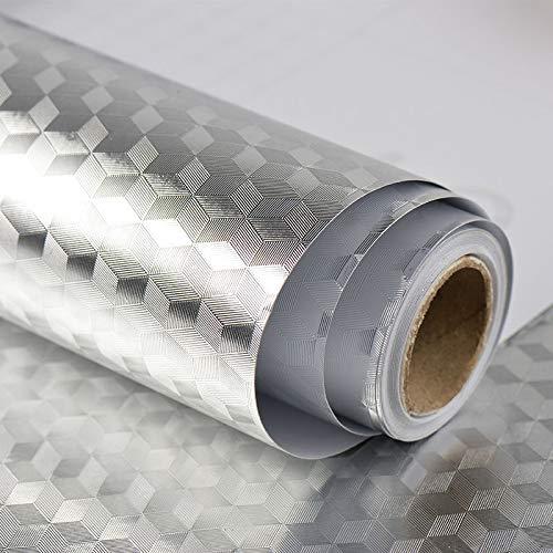 Aluminium folie zelfklevende doe-het-zelf keuken anti-olie contact papier schil Stick muur Stickers waterdichte behang sticker kasten werkbladen Sticker lade plank liner zilver Diamant