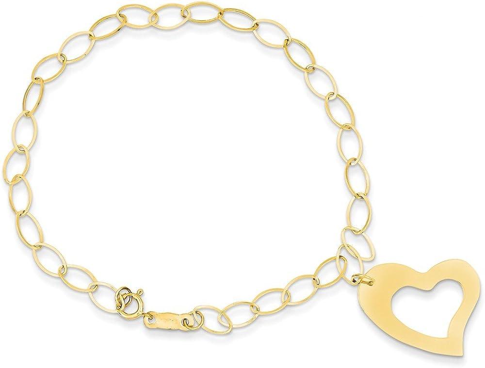 14k Yellow Gold Ranking TOP5 Max 49% OFF Bracelet Dangle Heart