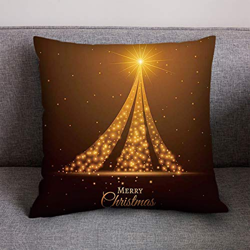 milkcha 18'x18' Christmas Cotton Linen Throw Pillow Case Decorative Couch Pillow Cases Cotton Linen Pillow Square Cushion Cover for Sofa, Couch, Bed and Car
