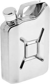 Perfeclan スキットル ポケット ヒップフラスコ ステンレス製 6oz 大容量 177ml 錆びない アウトドア キャンプ ボトル 携帯用 超軽 便利 シルバー