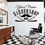 ACEYCYS Friseursalon Aufkleber Decal Hair Gentleman Poster