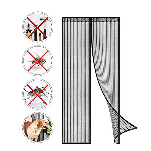 Magnet Fliegengitter Tür Insektenschutz, Der Magnetvorhang ist Ideal für die Balkontür Wohnzimmer Schiebetür Terrassentür-Profi Insektenschutz Ohne Bohren