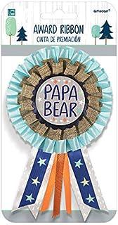 """Amscan ly Wait Award Ribbon for Dad-Papa Bear, 6 1/4"""" x 3 3/4"""", Multicolor"""