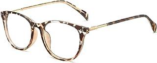 ANRRI Blue Light Blocking Glasses Computer Eyewear Lightweight Frame Eyeglasses (Leopard)