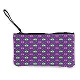 Gpedadf13 Unisex Karneval Muster mit Karnevalsmaske Frauen Mädchen Retro Leinwand Münz Geldbörse Reißverschluss Tasche Brieftasche Make-up Tasche Bleistift Tasche