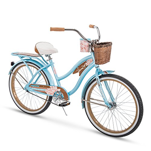 "Huffy 24"" Panama Jack Women's Beach Cruiser Bike, Sky Blue"