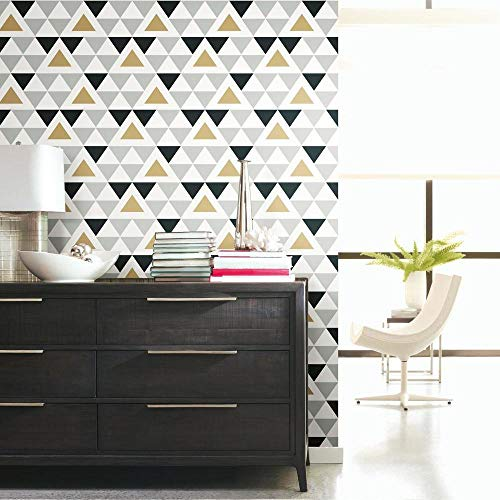 RoomMates Geometric Triangle Peel and Stick Wallpaper
