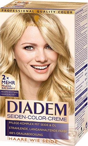 SCHWARZKOPF DIADEM Seiden-Color-Creme 711 Hellblond Stufe 3, 3er Pack (3 x 180 ml)