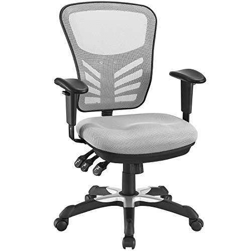 Modway EEI-757-GRY Articulate Ergonomic Mesh Office Chair in Gray