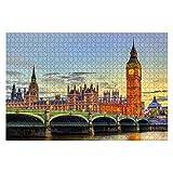 ジグソーパズル 1000ピース 日没時のロンドンのウェストミンスター宮殿と橋 イギリス ギフト 誕生日 クリスマス 贈り物 子供 おもちゃ 大人