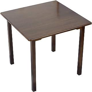 ZBYY Table de salle à manger ronde carrée en bambou - Petite taille - Table de salle à manger en bois massif - Table d'étu...