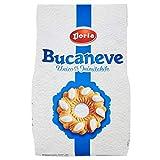 Con la sua forma inconfondibile, le invitanti gocce di glassa e la speciale friabilità, Bucaneve è il frollino che ha fatto la storia di Doria Unico e Inimitabile. Formato sacco da 400 grammi.