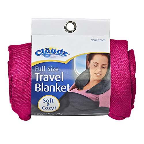 Cloudz Compact Travel Blanket - Fuchsia