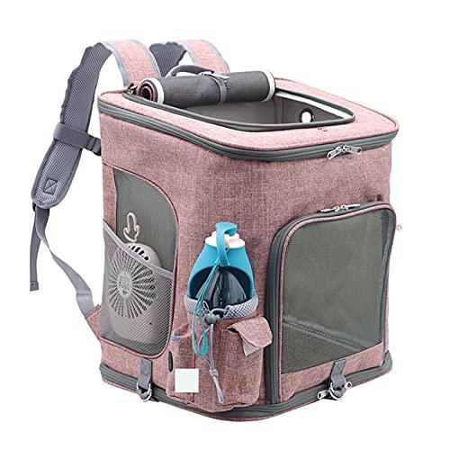 Zaino da compagnia per animali domestici per gatto per cani per cani, cartellino pieghevole Design ventilato Comfort Cat Backpack con bollitore, ventilatore, borsa da trasporto per all'aperto, viaggi,