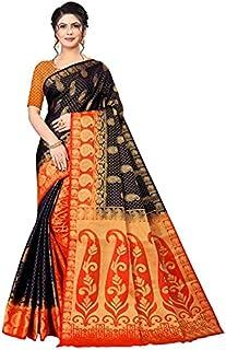 Neerav Exports Banarasi Traditional Jacquard Saree (Black)
