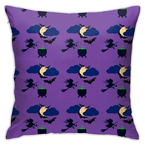 Throw Pillow Cover Cushion Cover Pillow Cases Decorative Linen Moon Bats for Home Bed Decor Pillowcase,45x45CM