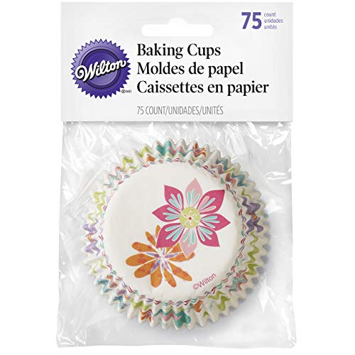 Wilton Spring Flowers Baking Cups, 75-Count