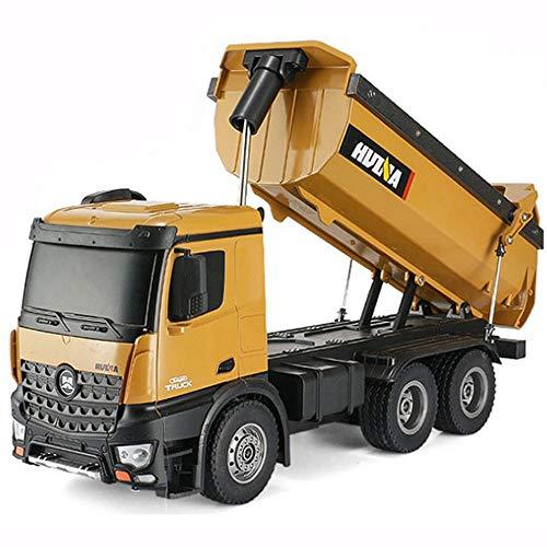 GKLHC Camión volquete RC Toy1: 14 Juguetes de construcción 10 Canales Control Remoto Camión volquete de construcción 5KG Capacidad de Carga Juguetes para vehículos de construcción