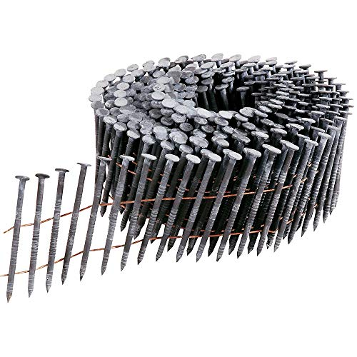MProve Collated Wire Coil Siding Nails 1-1/2 in x 0.092 Hot Dipped Galvanized Ring Shank [1200 Nails]