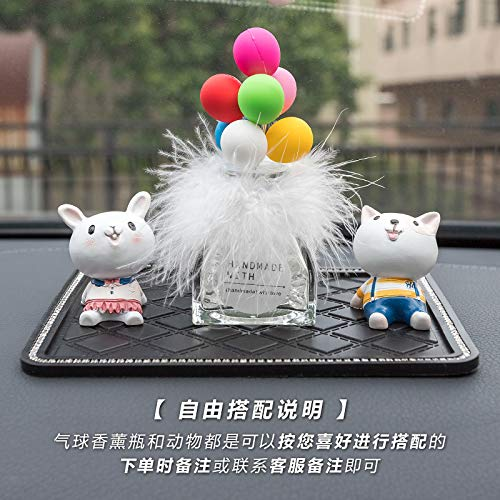 RAP Car Ornaments Car schattig instrument autoaccessoires Car Ornaments blik in de hemel Creative Ornamenten Twee dieren + ballon + anti-slip mat + parfum