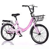 QYCloud Bicicletas Plegables portátiles para Bicicletas de montaña Ligeras, Plegables para Adultos, Hombres y Mujeres, Freno de Doble Disco Bicicleta para niños a Prueba de Golpes Completa