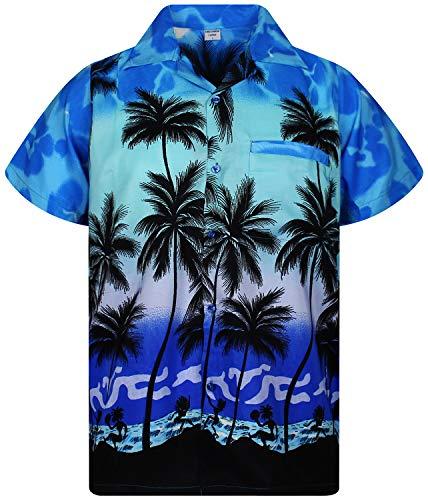 Funky Chemise hawaïenne US skull bleu