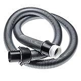 vhbw Manguera aspiradora 1,8m reemplaza AEG/Electrolux 219808814-4, 2198088144 para aspiradora negro/plateado