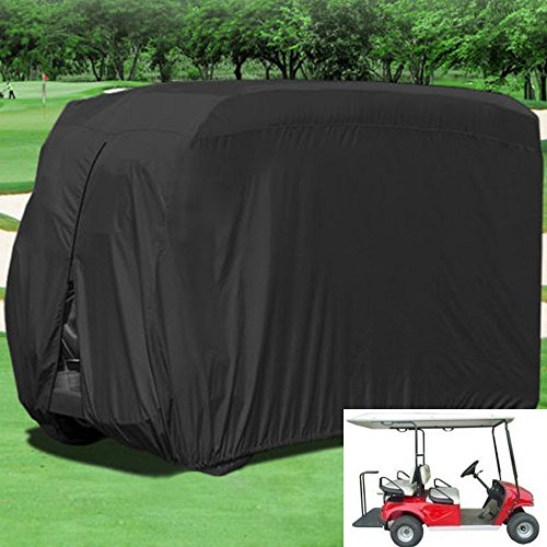 in budget affordable 80 inch L roof for Lmeison 4 passenger golf car trucks, 400D golf cart covers, EZ GO, club cars and …