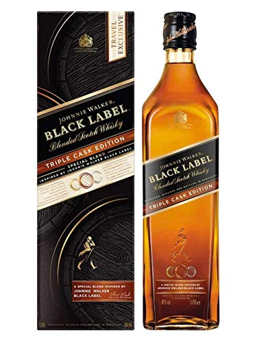 Johnnie Walker BLACK LABEL Blended Scotch Whisky TRIPLE CASK EDITION 40% - 1000 ml in Giftbox
