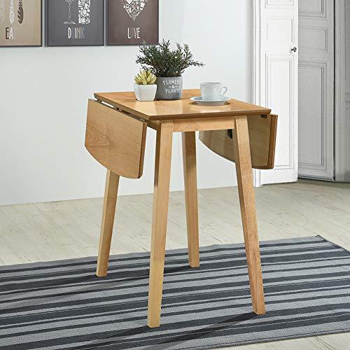 GOLDFAN Esstisch Rechteckig Holz Doppel Klapptisch für Küche Esszimmer Wohnzimmer Restaurant