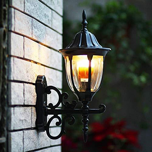 HDDD Erosb wandlamp voor buiten, industriële retro-stijl, wandlamp voor woonkamer in erf met binnenshuis (kleur: zwart)