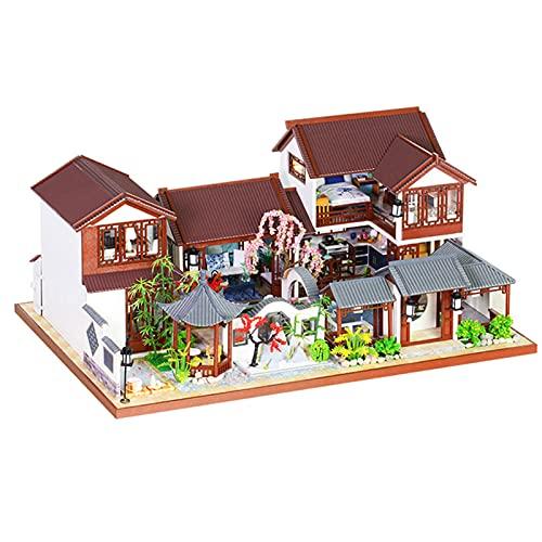 Kit De Casa De MuñEcas En Miniatura De Bricolaje, Arquitectura Arcaica Kits De Modelos De Manualidades Y Bricolaje Muebles De Plantas Realistas Kit De Modelos De Casa De MuñEcas Para DecoracióN