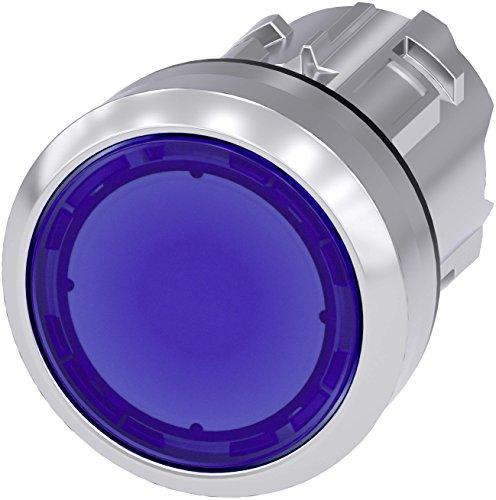 Siemens SIRIUS ATC Taster 22mm rund Metall/A glänzend blau Taste galvanisiert