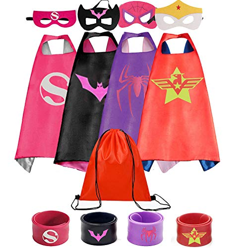 Superhero Capes for Kids with Wristbands