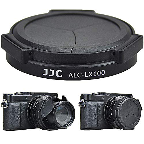 JJC ALC-LX100 Tapa de objetivo automática para Panasonic Lumix DMC-LX100 y Leica D-LUX (Typ 109) cámara (negro) sustituye a DMW-LFAC1.