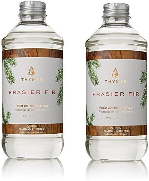 Thymes Frasier Fir Reed Diffuser Oil Refill Pack Of 2