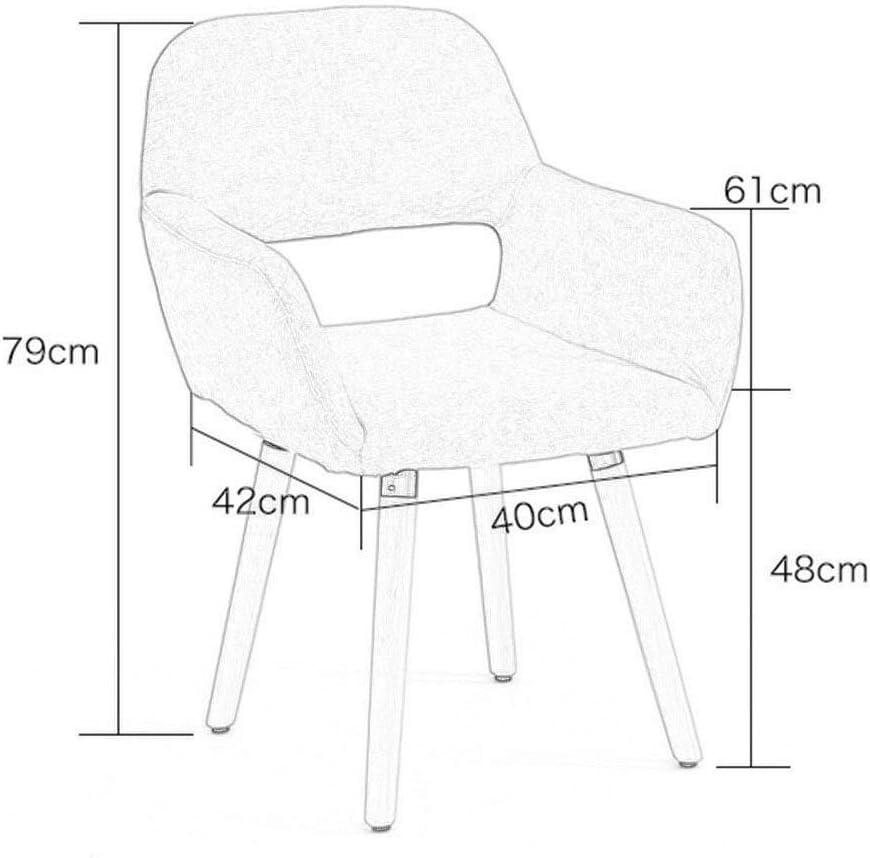 ZBHW Invité de club de chaises de bras d'accent de vie moderne de salle à manger avec les jambes en bois pleines (Color : A) C