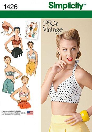 Simplicity Damen Schnittmuster 1426 Vintage Stil 1950er BH Tops