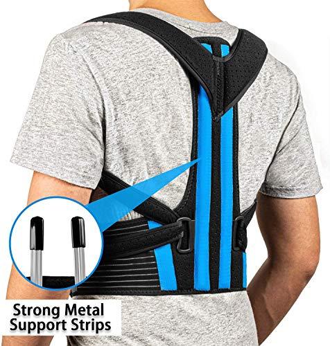 Posture Corrector - Best Back Brace for Men & Women – Adjustable Support Brace for Pain Relief from Neck, Back & Shoulder – Please Check Sizing Chart