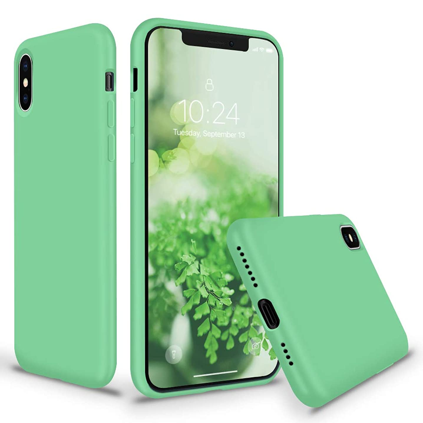 SURPHY Silicone iPhone Xs MAX Case, Slim Soft Liquid Silicone Rubber Full Body Protection Phone Case Cover with Microfiber Lining for Apple iPhone Xs MAX Case 6.5