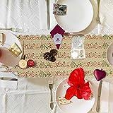 AirSMall Noel Tischläufer Weihnachten Tischdecke Rot Tischband Xmas Tischtuch Tisch Läufer Mitteldecke Leinen tischläufer für Weihnachtsessen Esstisch Kommunion Tischdeko Winter Deko - 2