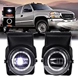 DRFG LED Fog Light with DRL Compatible for...